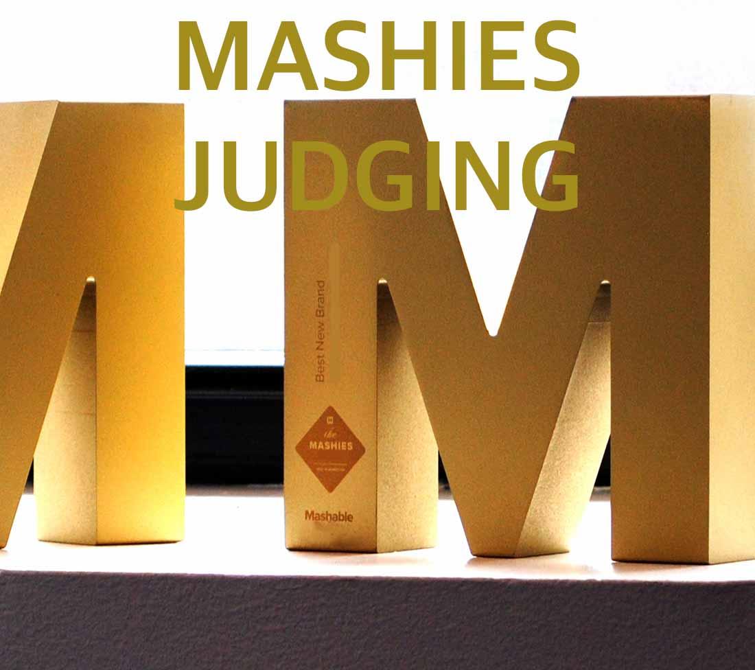 Rebecca McMillan Judging the Mashies 2016